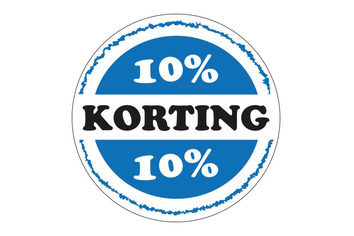 10% korting op alle lespakketten